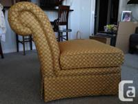 Two matching gold chairs in great condition. They have