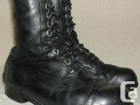 CANADIAN MILITARY BATTLE BOOTS, ALLS SIZES, $30. NEW