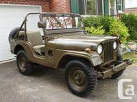 Used, WW2 Army jeep M38A1.  Engine, carroserie redone for sale  Quebec