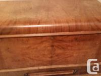"""Art Deco """"waterfall"""" design cedar lined chest is lovely"""