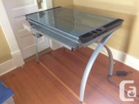 Glass top drafting table, perfect for painting, art, or