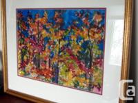Art - Fall Leaves - Original Watercolour by Raija