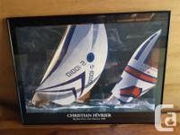 Framed Sailboats; 32 inches x 24 inches. Christian
