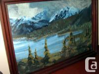 Art - Mountain Lake - Original Oil Painting Signed by