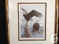 """One: 5 x 7 framed print """"Majestic Pair"""" by BC Artist"""