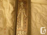 lovely mounted Egyptian revival art. 19.5 long 5.5