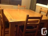 Table & 6 chairs for sale. We are moving and dont have