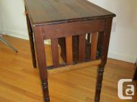Very old Arts and Crafts desk. Turned legs. One drawer