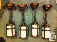 A set of 4 (nearly) matching Arts & & Crafts/ Tudor