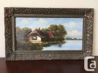 A variety of oil paintings in different sizes, styles -