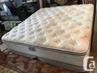 As new king bed Semi firm kingsdown brand mattress and