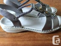 Blingey sliver sandals, never worn outside. Just to