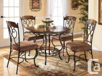 Beautiful wood and wrought iron dinette set purchased 3