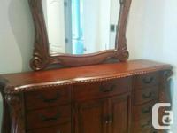 Ashley furniture solid wood bedroom set. 4-piece set