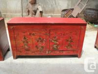 Antique Chinese Painted Sideboard. Normal Cost: $2095,
