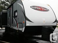 Rear Living Room Travel Trailer Side Aisle Bath