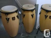 Yamaha LP Congas (set of 3) with stands In Excellent