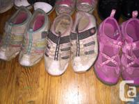 Running shoes $5/pair High tops $8/pair Dress black