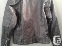 Leather casual jacket size small $50 Leather bike style