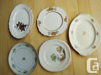 Assortment of 5 Decorative Fine China Plates -Some are