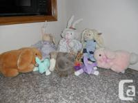 Collection of Stuffed Animals.  Ten different stuffed