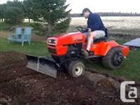 Want a mower deck, front blade, snowblower and a cab to