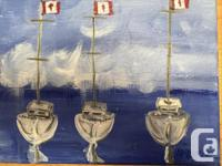 Picture perfect: Maple Leaf flags in the wind, sail