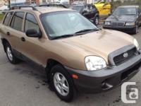 Make Hyundai Model Santa Fe Year 2003 Colour Brown kms