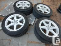 Audi A4 2009-2011 stock rims + Winter Tires.