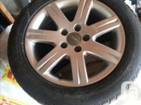 From Audi A4 Avant 2.0 T, since sold. Tires good for at