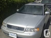 2000 Audi A4 Quattro All wheel drive which is great for