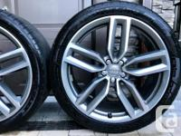 Factory Audi SQ5 21-inch wheels with Dunlop Sport Maxx for sale  British Columbia