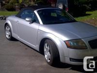 Make Audi Model TT Year 2001 Colour Silver kms 268000