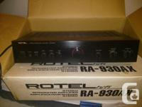 Rotel RA-930AX Stereo Amplifier Rotel RCD-955AX CD