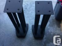 High quality Black painted steel speaker stands for
