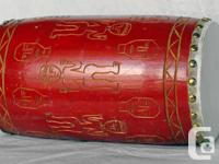 This beautiful handmade ethnic drum can be used as