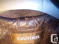 This men's large, dark brown, real 100 % leather Danier