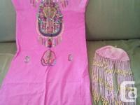 This is a size 5 girls dress and hat from Egypt brought