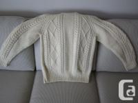 Men's size 42 Irish Fisherman Knit sweater. Purchased