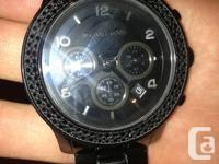 New condition Kors ladies watch, Black with crystals