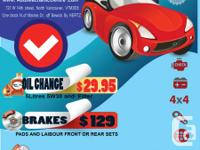Auto repair ( ALL MAKES AND MODEL)  Air care  Brakes