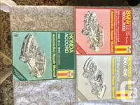 Misc owners Manuals and Service Manuals. Would like to