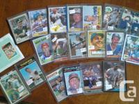 I've gathered baseball memorabilia for several years;