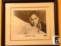 Autographed Jennifer Lopez 8x10 framed photo. I am