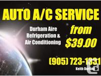 Auto Air Conditioning Service by licensed journeyman.