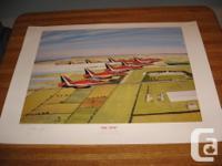 Open edition aviation art print titled Big Nine signed