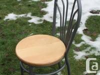 Need an extra chair great custom look hardwood seat