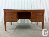 selling a very cool vintage teak desk.nice lines and