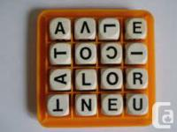 Three board games.  BOGGLE: Make spelling for kids fun.