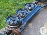 """For sale $175 for all. - a 47"""" to center axle with hubs"""